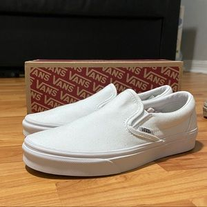 Women's All White Slip-On Vans